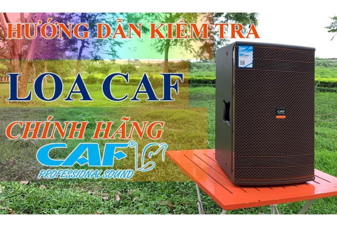Hướng dẫn kiểm tra loa CAF Audio nhập khẩu chính hãng.