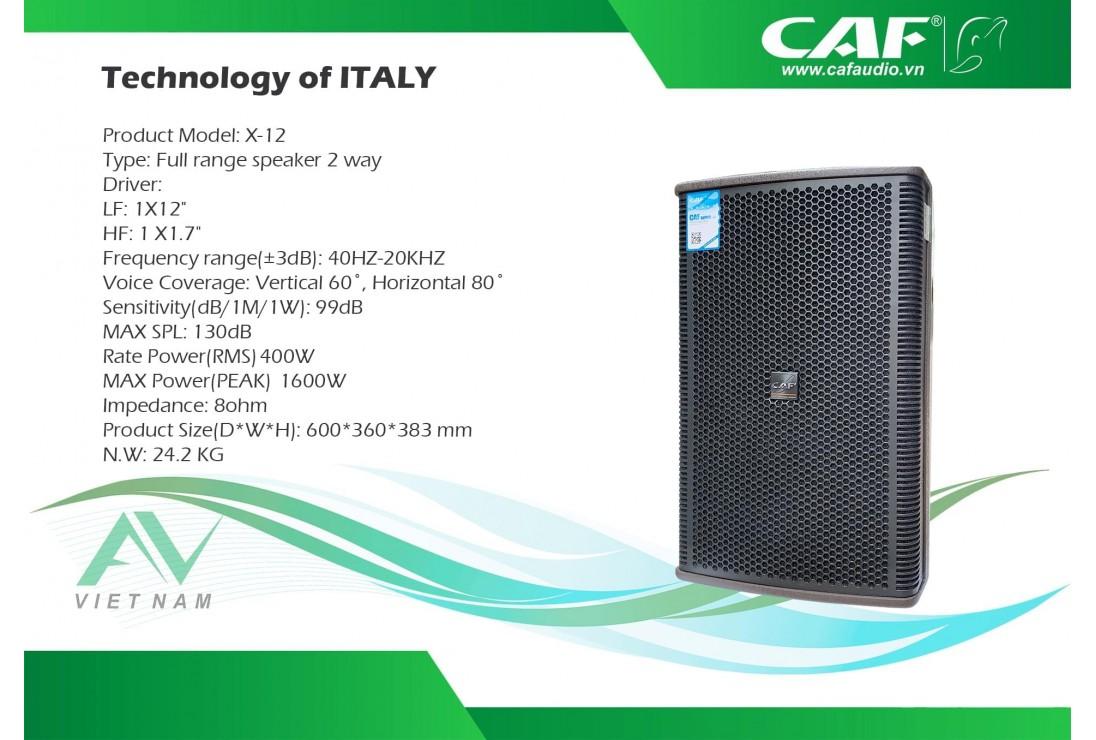 Loa CAF X-12 dòng loa chuyên cho nhạc mạnh - Karaoke chuyên nghiệp