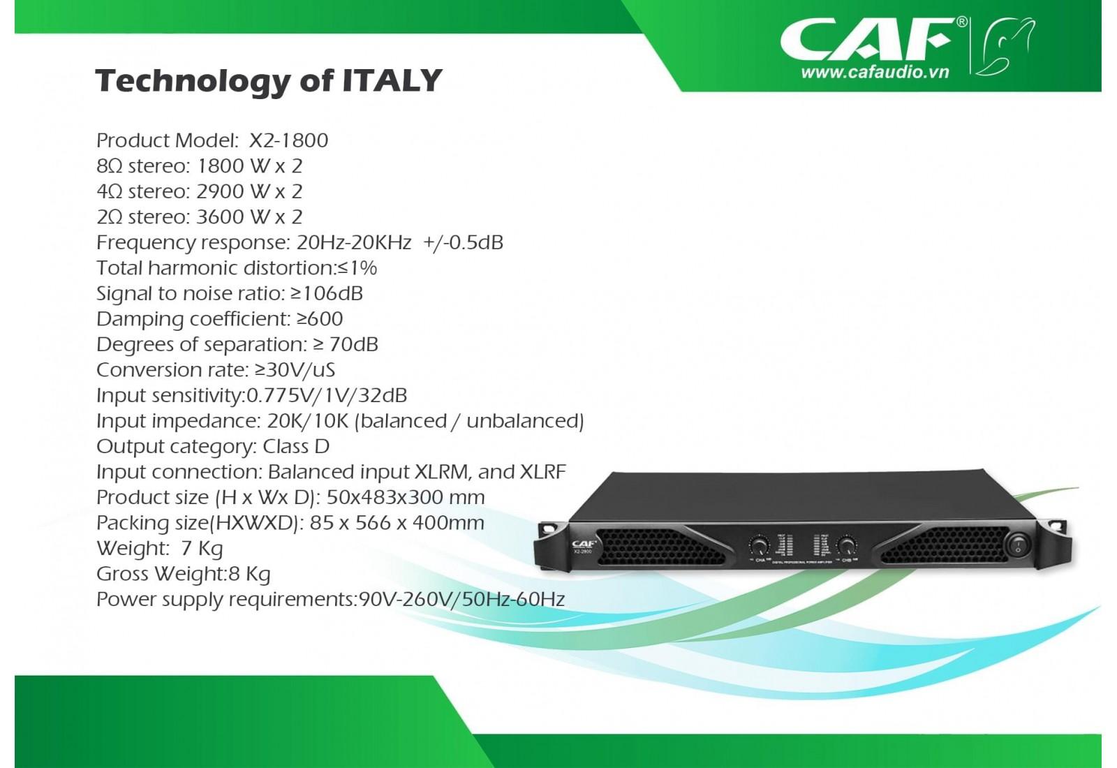CAF X2-1800